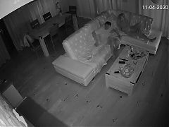 Hidden camera. Family sex, husband cheated on wife with youn