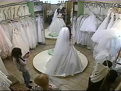 spy camera in the salon of wedding dresses 5 (sorry no sound