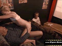 Teeny fucked in the porn cinema