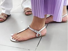 Frs perfect big long feets, pedicured toes in sandals