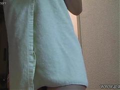Spying on Japanese Girl with Nice Tits Showering