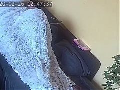 my wife secretly masturbates under the blanket spy cam