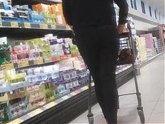 Tight milf jeans ass shopping