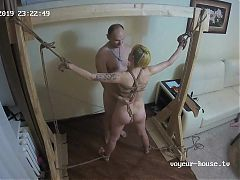 Voyeur camera at bondage amateur party