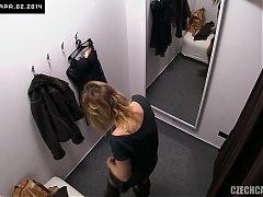 Pantyhose Voyeur Dressing Room