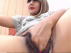 Latina Reginne Girl Playing Her Hairy Big Pussy
