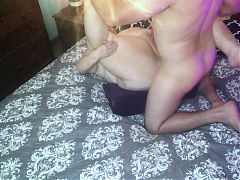 Mature BBW Granny gets fucked on Liberator Wedge Amateur TnD