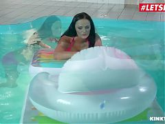 LETSDOEIT - Hot Threesome By The Pool With MILF Mom Any Maax