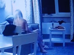 Couples have sex in the living room (Spy-Cam)