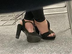 Girlfriend teases me with high heels in public